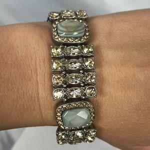 NWT Ann Taylor LOFT rhinestone bracelet bling!